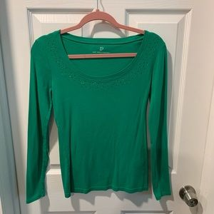 NY&Co green sparkle top
